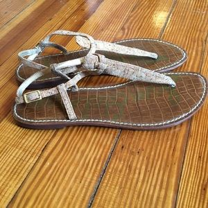 Sam Edelman GIGI Cork Thong Sandals Tan